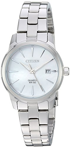 Citizen Women's ' Quartz Stainless Steel Casual Watch, Color:Silver-Toned (Model: EU6070-51D)