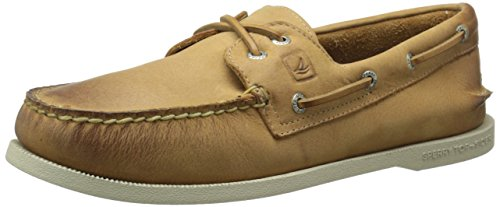 Sperry Top-Sider Mens AO 2 Eye Cross Lace Boat Shoe Tan 8.5 M US