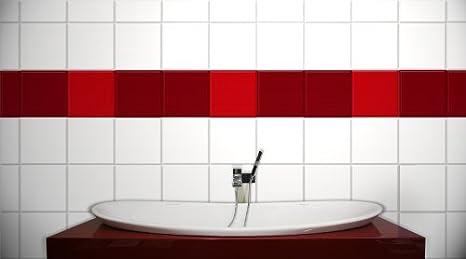15,0 x 20,0 cm Wandkings Fliesenaufkleber f/ür K/üche und Badezimmer 50 St/ück Farbe w/ählbar