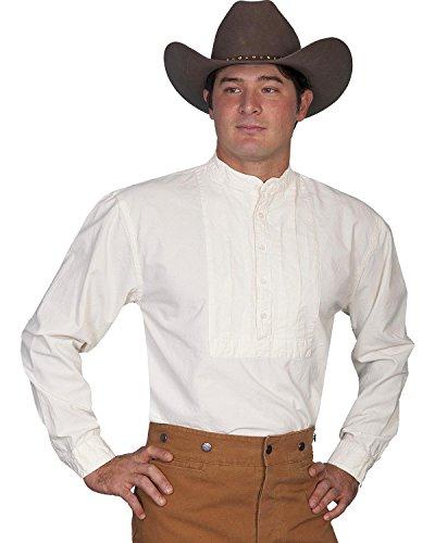 Scully Rangewear Men's Rangewear Classic Pleated Bib Inset Frontier Shirt Ivory ()