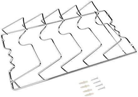 Byged Rangement de Couvercle de Casserole monté sur la Porte, Support de Couvercle de Casserole argenté, pour Armoire de Cuisine pour Cuisine 5 couvercles de Casserole