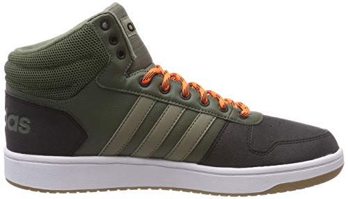 2 Cargo Vert S18 Hoops res base Orange Homme Adidas Hi Trace Pour 0 Baskets Mid 4H5wq