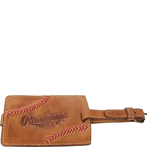Rawlings Unisex Baseball Stitch Luggage Tag, Tan, OS