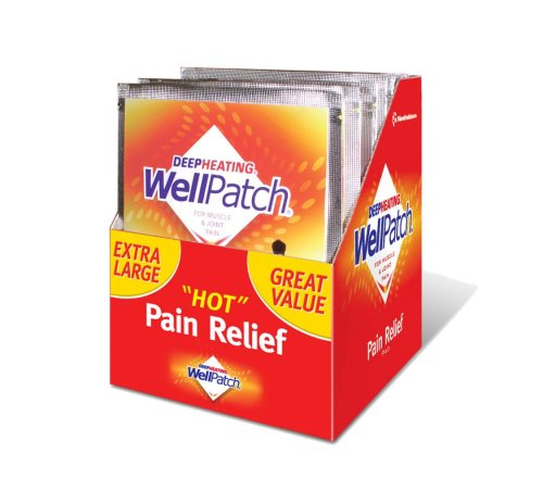 WellPatch Capsaicin Pain Relief Pads, Box of 4 - 3/4x 7- Pack of 5 -Total 25 count