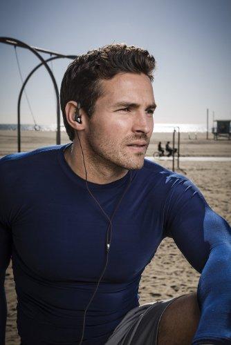 Philips SHQ3200BK/28 Action Fit Sports Earhook Headphones (Black)