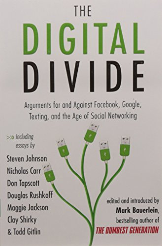 The Digital Divide  Arguments For And Against Facebook  Google  Texting  And The Age Of Social Networking