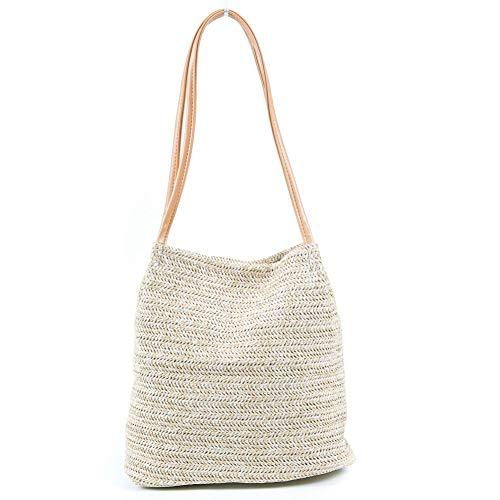 Straw Women Bag Casual Handbag Holiday Rattan Handbag Ladies Weaving Bucket Beach Summer Shoulder Bags