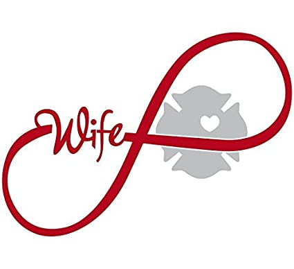 c54f3fdc263 Amazon.com: Firefighters wife window Decal Vinyl StickerRibbon ...