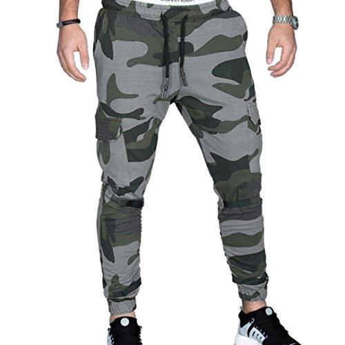 Pant Windowpane Trouser - Trousers for Men,Caopixx Men's Casual Sports Slinky Pants Casual Elastic Pockets Sweatpants (Asia Size XL=US Size L, Dark Gray)