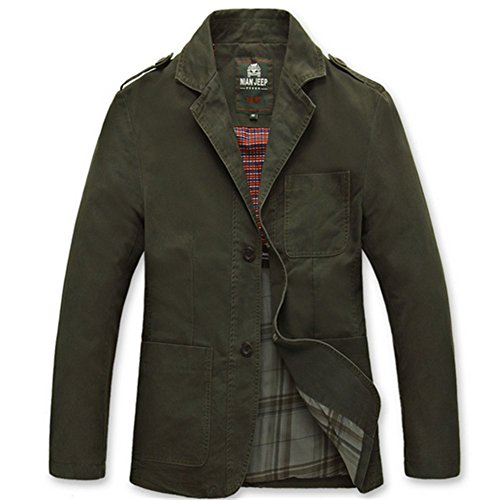 Wardrobe King Men's Long Sleeve Gentle Casual Work Suit Jacket Keep Warm Coat