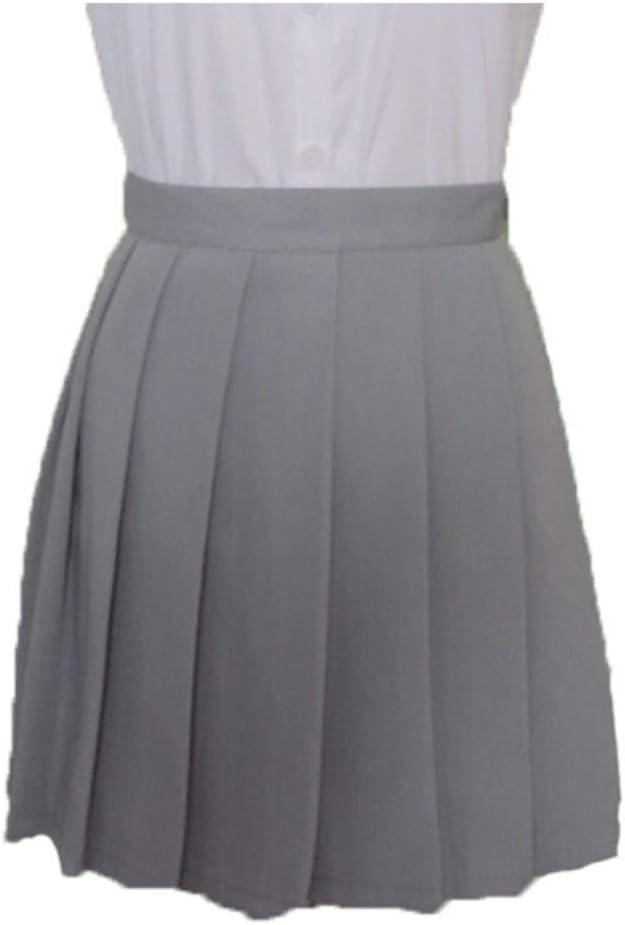 HEHEAB Falda,Gris Chicas Japonesas Faldas Colegialas Falda Plisada ...