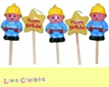 Builder Mini Pick Candles by Monster Parties