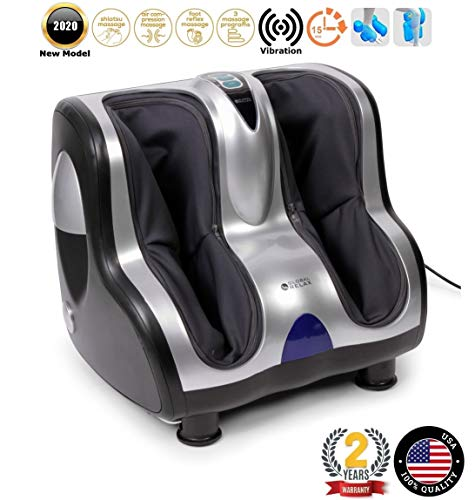 VITALZEN® Foot and Leg Massager (2020 Model) – Massage Systems: vibrotherapy, accupressure, Reflexology, Percussion, and Compression/air – 3 Intensity Levels – 2 Year Warranty