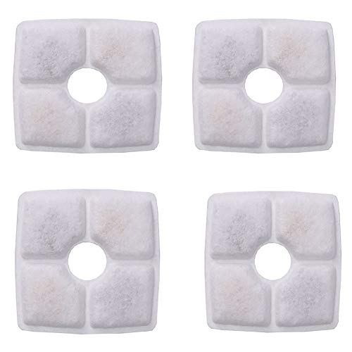 Norbi 4pcs Filtration Pad Square Activated Carbon Cotton Flower Pet Fountain Waterer Accessory Replacement
