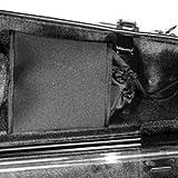 "Bam Contoured Hightech Viola Case - up to 16 7/8\"", Black Interior/Black Carbon Exterior"