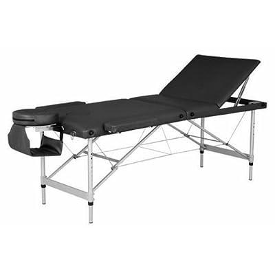 Royal Massage Oasis Elite Professional Aluminum Portable Folding Massage Table with Bonuses - Charcoal Black