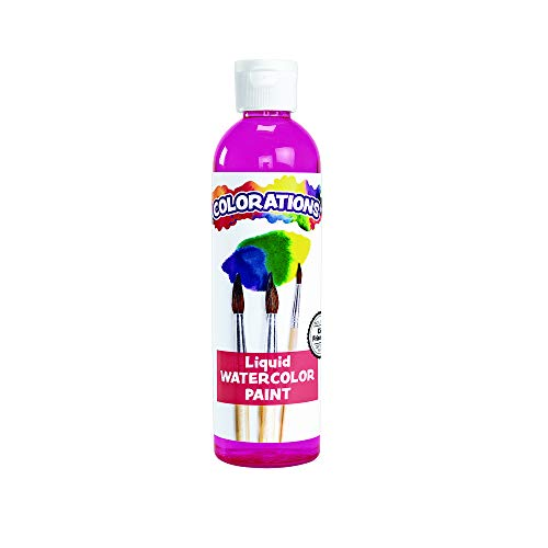 Water Magenta - Colorations Liquid Watercolor Paint, 8 fl oz, Magenta, Non-Toxic, Painting, Kids, Craft, Hobby, Fun, Water Color, Posters, Cool Effects, Versatile, Gift