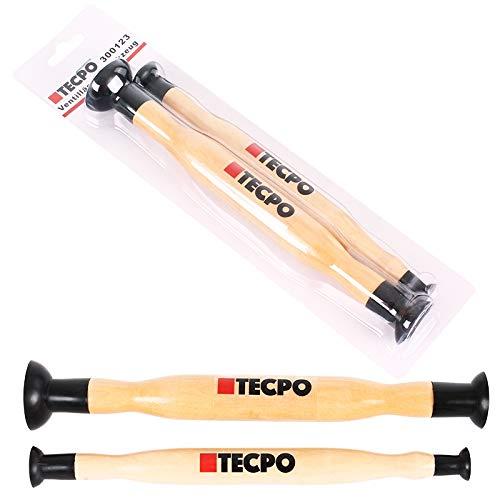 TECPO 300123 - Smerigliatrice per valvole, 15 x 20 mm e 28 x 34 mm, 2 pezzi