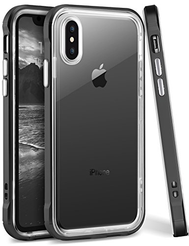 iPhone X Case, Ansiwee Reinforced PC Frame High...