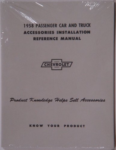 Chevy Accessory Installation Manual, 1958