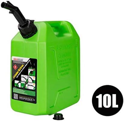 5L-20Lのガソリンタンク、ポータブル肥厚ガソリン缶、車やオートバイのポータブル予備燃料タンク、ディーゼルすることができます - 三色/ 3つの仕様 (Color : Green, Size : 10L)