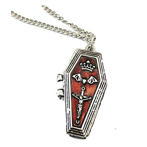 Coffin Bat (CA Mode Women's Cross Vintage Coffin Locket Necklace Bat Pendants)