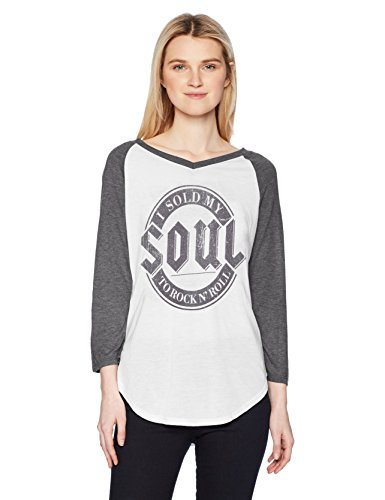 Fifth Sun Women's Rebel Rose Fashion Ranglan Top, Multi/Color//Sold My Soul, XX-Large