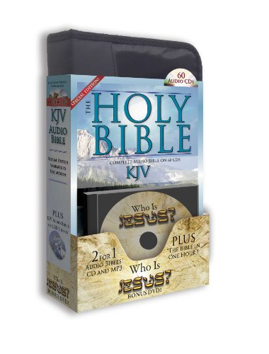 King James Version 2 Complete Audio Bibles 60 High Fidelity Digital CDs Plus 2nd KJV Audio Bible on 2 High Fidelity Digital MP3 Discs-Plus Who is ... by World Famous Bible Narrated-Eric Martin by Casscom Media