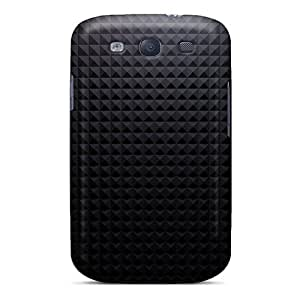 Galaxy S3 Case Cover Skin : Premium High Quality Gray Pyramid Texture Pattern Case