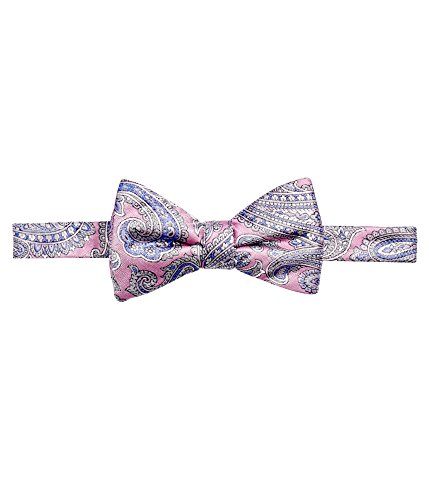 Countess Mara Men's Beacon Paisley Silk Pre-Tied Bow Tie (One Size, Pink Blue)