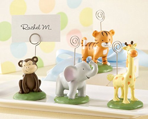 Born To Be Wild Animal Place Card / Photo Holders Set of Four Assorted - 24 sets In Total by Kate Aspen