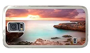 Hipster Samsung Galasy S3 I9300 Case leather cases coral rock sunset PC Transparent Samsung Galasy S3 I9300