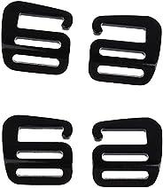 4Pcs 1 inch G Hook Webbing Buckle Replacement Quick Release for 25mm Outdoor Backpack Strap Slider Adjuster Pr
