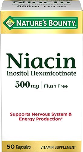 Nature's Bounty Niacin Flush Free 500 mg, 50 Capsules - Buy Packs and Save (Pack of 3) by NBTY.inc - US Nutrition,inc.