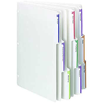Smead Viewables Three-Ring Binder Index Dividers, 1/3-Cut Tab, Letter Size, White, 75 per Box (89413)