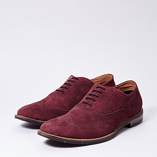 Burgundy suede Leather Brogue Shoes
