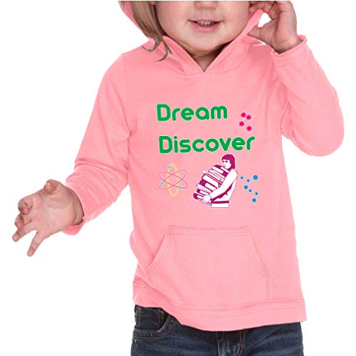 Dream - Discover Long Sleeve Hooded Infant Boys-Girls Cotton/Polyester RawEdge Hoodie Sweatshirt - Flamingo, 12 Months