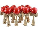 Kotaro Pro Wood Kendama 12 Pack of Bulk Kendamas (red)