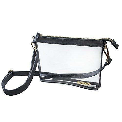 - Capri Designs Clear Premium Stadium Approved Small Crossbody Bag (Black)