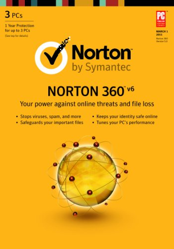 Norton 360 6.0 - 1 User / 3 PC (12 month subscription) [Download] [Old Version] (Norton 360 For 2 Devices)