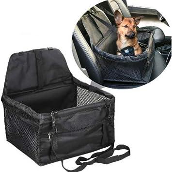 DOBO Transportín de coche para asiento, cesta para sillita de perro, gato, mascotas con correas de seguridad y suave acolchado interno.: Amazon.es: Productos para mascotas