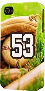 Baseball Sports Fan Player Number 53 Plastic Snap On Decorative iPhone 5c Case