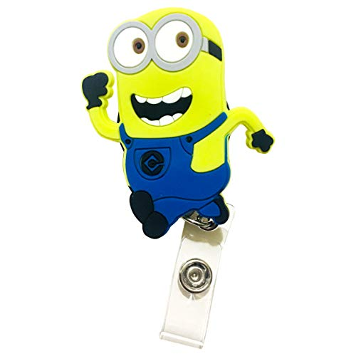 Swivels - Cartoon Retractable Badge Reel - Holder for ID and Name Tag with Alligator Clip (Minion) -