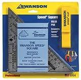 SWANSON TOOL S0101ASPC SPEED SQUAR 7''x7''x10''x3/16'' - ALUMINUM