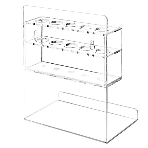 MyGift Clear Acrylic Wall Mounted 5 Slot Dry Erase Marker and Eraser Organizer Holder Rack, Set of 2 by MyGift (Image #4)