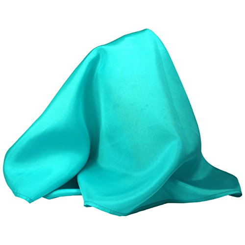- Fine Turquoise Blue Silk Pocket Square - Full-Sized 16