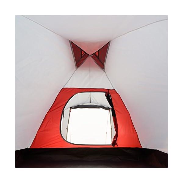 41sE5SovYBL JUSTCAMP Scott Campingzelt mit Vorraum, Iglu-Zelt für 3 od. 4 Personen (doppelwandig), Kuppelzelt