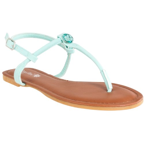 embellished Mint Rhinestone Bamboo Morris Womens Bamboo Womens Sandals strap T vOTOFX