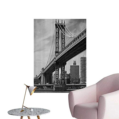 """Wall Stickers for Living Room Ridge of NYC Vintage East Huds River USA Travel Top Place City Vinyl Wall Stickers Print,12""""W x 16""""L"""