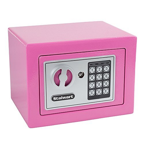 Stalwart 65-E17-B Electronic Deluxe Digital Steel Safe, Pink by Stalwart